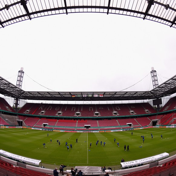 COLOGNE, GERMANY - APRIL 30:  A general view of the RheinEnergieStadion is pictured during a training session of 1. FFC Turbine Potsdam ahead of the Women's DFB Cup Final at RheinEnergieStadion on April 30, 2015 in Cologne, Germany.  (Photo by Dennis Grombkowski/Bongarts/Getty Images)
