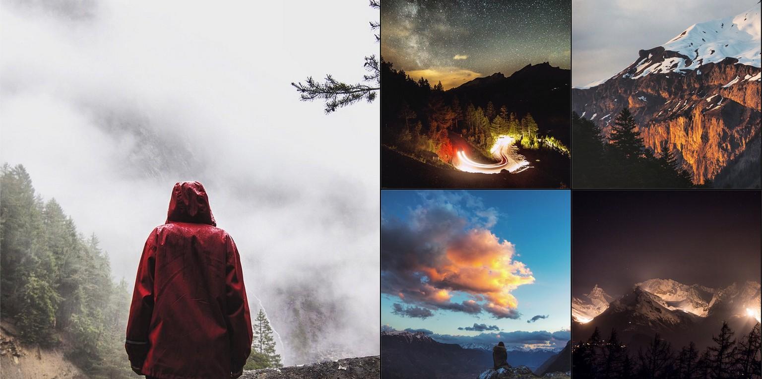 Auf Instagram sind seine glitzernden Sternenbilder noch ein ...