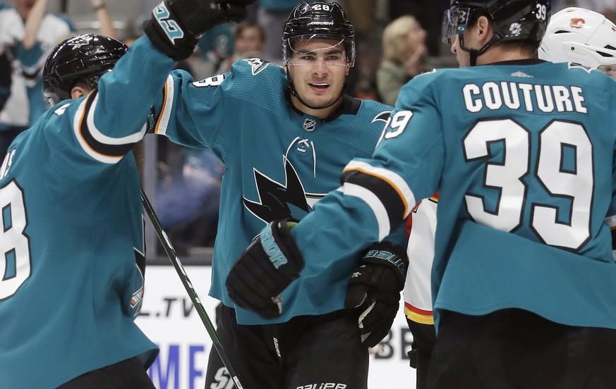NHL: Timo Meier leitet Sieg der San Jose Sharks gegen Calgary ein
