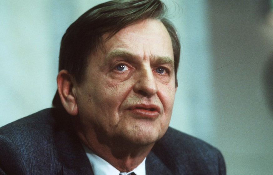 FILE - Dec. 12, 1983 file photo of Swedish Prime minister Olof Palme. Swedish prosecutors will announce Wednesday June 10, 2020 a decision in the investigation into the long unsolved murder of former Swedish Prime Minister Olof Palme, who was shot dead in downtown Stockholm in 1986. (Anders Holmstrom/TT via AP)