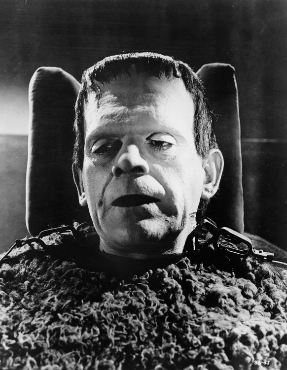 British actor Boris Karloff is seen in his trademark role as the monster of Frankenstein in this 1947 photograph. (AP Photo)