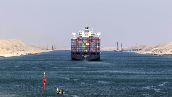 epa08003780 Liberian-flagged container ship RDO CONCORD sails through the Suez Canal in Ismailia, Egypt, 17 November 2019, as Egypt marks the 150th anniversary of the Canal's opening to international navigation. According to the Suez Canal Authority figures, 1.3 million vessels have transited the waterway since its inauguration on 17 November 1869, generating revenues amounting to 135.9 billion US dollars.  EPA/MOHAMED HOSSAM