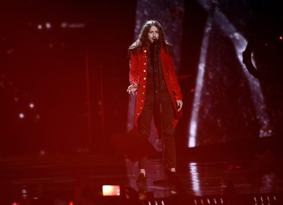 epa05300207 Michal Szpak of Poland performs the song 'Color Of Your Life' during rehearsals for the Second Semi-Final of the 61st annual Eurovision Song Contest (ESC) at the Ericsson Globe in Stockholm, Sweden, 11 May 2016. The event's grand final takes place on 14 May.  EPA/MAJA SUSLIN SWEDEN OUT