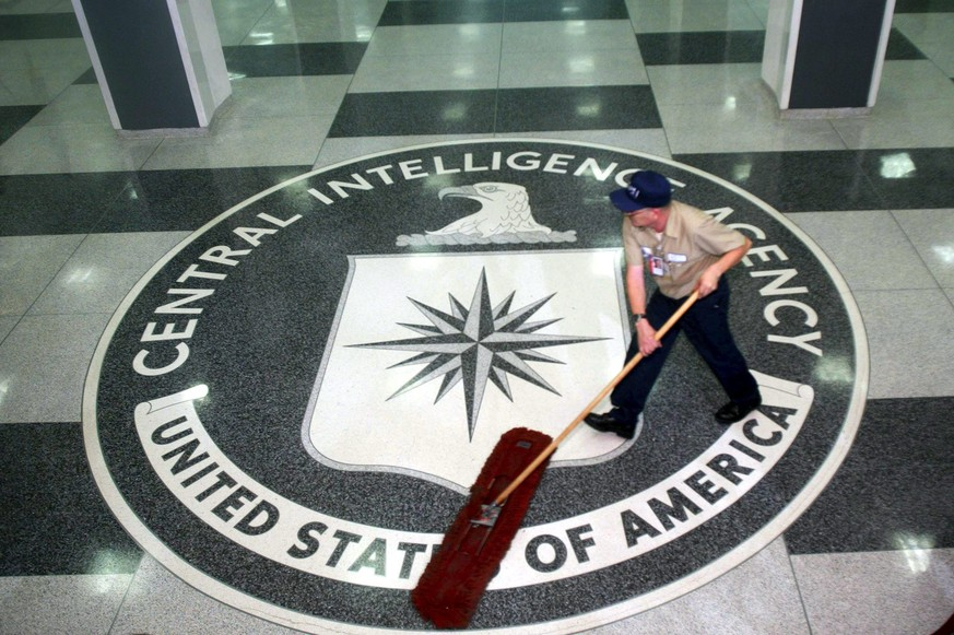 epa05834710 (FILE) - A worker at the CIA sweeping the foyer clean at the CIA Headquarters, Langley, Virginia, USA, 03 March 2005 (reissued 07 March 2017). According to whistleblower website WikiLeaks on 07 March 2017, the organization has published documents codenamed 'Vault 7', allegedly originating from CIA's Center for Cyber Intelligence. Based on the documents, Wikileaks claims that the CIA hackers were able to hack into iPhones, Android phones and smart TV sets.  EPA/DENNIS BRACK / POOL *** Local Caption *** 00465857