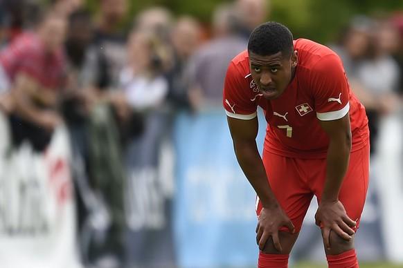 25.05.2014; Lausanne; Fussball Nationalmannschaft U-19 - Georgien - Schweiz;Saidy Janko (SUI)(Urs Lindt/freshfocus)