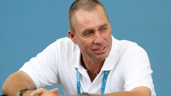 FILE - In this Jan. 7, 2012, file photo, Ivan Lendl watches Andy Murray during a training session for the Brisbane International tennis tournament in Brisbane, Australia. Lendl is getting back into coaching to try to groom the next American tennis champion. The eight-time Grand Slam title winner has started working with the U.S. Tennis Association's player development program, spending time with a group of 15- and 16-year-old boys at a training camp. (AP Photo/Tertius Pickard, File)
