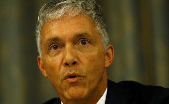 Swiss Attorney General Michael Lauber addresses a news conference on Swiss criminal proceedings regarding the allocation of the FIFA World Cup tournaments in 2018 and 2022 at the Conference of the International Association of Prosecutors (IAP) in Zurich, Switzerland September 14, 2015. REUTERS/Ruben Sprich