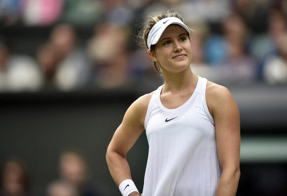 epa05399713 Eugenie Bouchard of Canada plays Johanna Konta of Britain in their second round match during the Wimbledon Championships at the All England Lawn Tennis Club, in London, Britain, 30 June 2016.  EPA/HANNAH MCKAY EDITORIAL USE ONLY/NO COMMERCIAL SALES