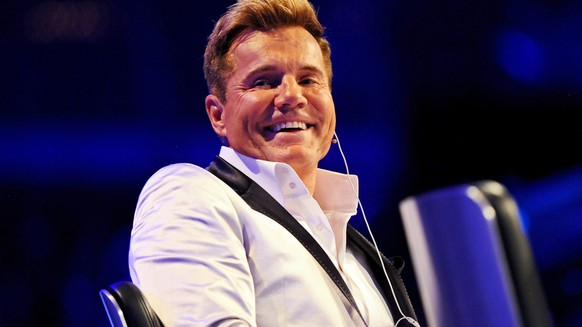 epa04752497 A picture made available on 17 May 2015 of casting show jury chief, German music producer Dieter Bohlen smiling at the final of pop casting show 'Deutschland sucht den Superstar' (DSDS), the German version of Pop Idol franchise, at OeVB Arena venue in Bremen, Germany, 16 May 2015. Severino Seeger won the 12th season's title.  EPA/INGO WAGNER