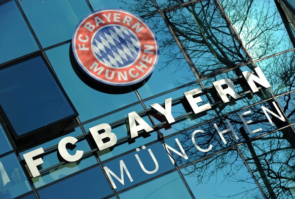 epa04123709 The logo FC Bayern Munich is seen on an office building at the club headquarters on Saebener Strasse in Munich, Germany, 13 March 2014. Uli Hoeness, the president of German soccer champions Bayern Munich, was sentenced to three and half years in jail on 13 March 2014 after being found guilty of evading taxes estimated at 27.2 million euros (38 million dollars) by a court in Munich.  EPA/ANDREAS GEBERT