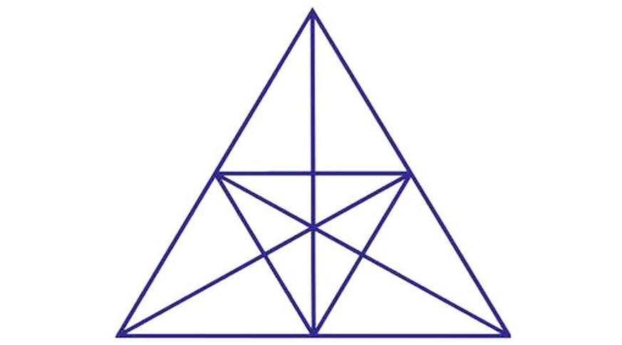 Nur Einer Von Sechzehn Sieht Hier Alle Dreiecke Und Du