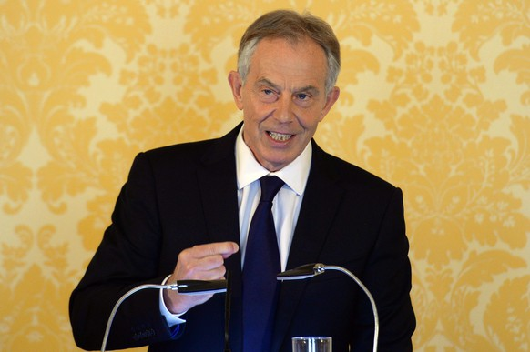 epa05410864 Former British prime minister Tony Blair speaks during a press conference in response to the Chilcot Iraqi Inquiry, at the Admiralty House, London, Britain, 06 July 2016. Tony Blair said: 'I express more sorrow, regret and apology than you may ever know or can believe'. Mr Blair said that the report contained 'serious criticisms' but showed that 'there were no lies, Parliament and the Cabinet were not misled, there was no secret commitment to war, intelligence was not falsified and the decision was made in good faith'. The Chilcot Inquiry, chaired by Sir John Chilcot, examines the circumstances surrounding the British Governments involvement in the 2003 Iraq War.  EPA/STEFAN ROUSSEAU / POOL UK AND IRELAND OUT