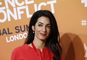 Amal Alamuddin, human rights lawyer and fiancee of US actor George Clooney attends the 'End Sexual Violence in Conflict' summit in London, Thursday, June 12, 2014. The Summit welcomes governments from over 100 countries, over 900 experts, NGOs, Faith leaders, and representatives from international organizations across the world. (AP Photo/Lefteris Pitarakis)