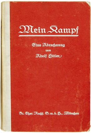 "A handout photo of a signed copy of the first edition ""Mein Kampf"" (My Fight) written by Adolf Hitler which is to be sold at auction by British auction house Bloomsbury on 15th June 2005. It is expected to fetch around euros 38,000.  (KEYSTONE/EPA/HO)"