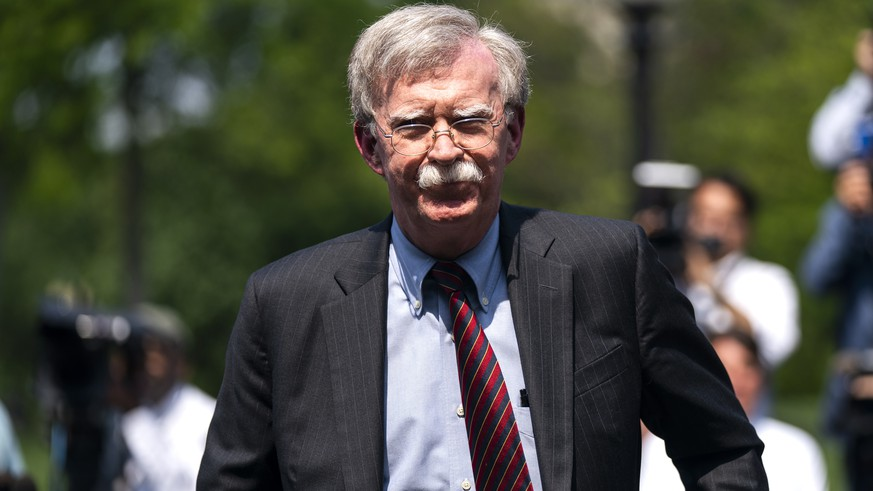 epa07832879 (FILE) - National Security Advisor John Bolton departs after speaking to the media about the uprising in Venezuela outside the West Wing of the White House in Washington, DC, USA, 30 April 2019 (Reissued 10 September 2019). Trump tweeted on 10 September 2019 that he asked his national security advisor John Bolton to resign and that he will name a new advisor on the following week.  EPA/JIM LO SCALZO *** Local Caption *** 55159370