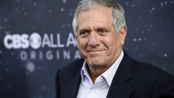 FILE - In this Sept. 19, 2017, file photo, Les Moonves, chairman and CEO of CBS Corporation, poses at the premiere of the new television series
