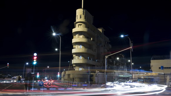 epa07305467 (17/27) A long-time exposure shows the so-called 'Boat House' on Levanda Street designed by Shimon Hamadi Levi in 1934 in the International Style as part of the 'White City' Bauhaus ensemble in Tel Aviv, Israel, 10 December 2018. Nestled in the streets of downtown Tel Aviv stands the modernist architectural gem known as the White City: one of the largest concentrations of around 4,000 buildings created in the renowned 1930s Bauhaus style. The UN declared the Israeli White City a World Cultural Heritage site in 2003 triggering a renewed interest in the modernist complex. German architect Walter Gropius founded the Staatliche Bauhaus school of art, architecture and design in the city of Weimar in 1919, from where the emblematic architectural movement known as the International Style was developed. The year 2019 marks the 100th anniversary of the founding of the Bauhaus school and as such the Bauhaus Association is set to celebrate the centenary worldwide with numerous exhibitions, events, research projects and more under the motto 'Rethinking the World.'  EPA/ABIR SULTAN  ATTENTION: For the full PHOTO ESSAY text please see Advisory Notice epa07305447
