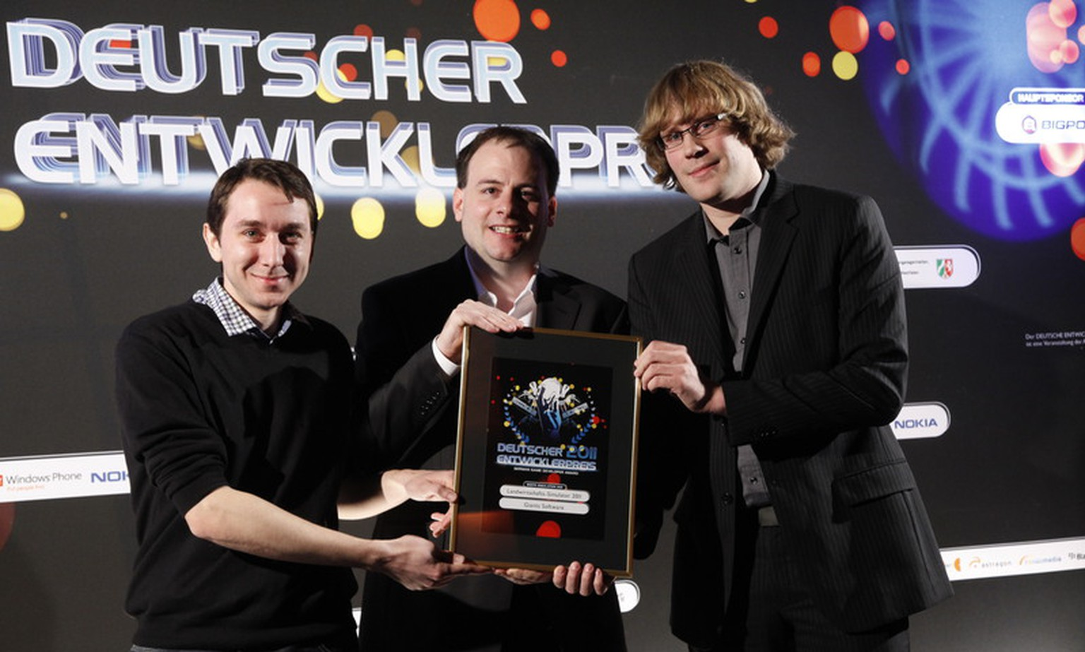 giants software v.l.: Lead Artist Thomas Frey, CEO Christian Ammann, Lead Programmer Stefan Geiger