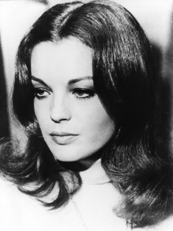 Undatiertes Bild von Romy Schneider. Die Schauspielerin, die 1982 gestorben ist, waere am 23. September 44 Jahre alt geworden. (KEYSTONE/AP Photo/Str) ===  ===