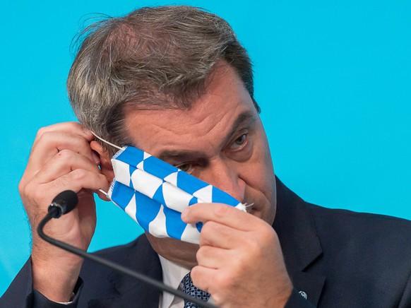 ARCHIV - Hat wegen der Panne mit Corona-Tests seinen Besuch an der Nordsee abgesagt: Markus Söder (CSU), Ministerpräsident von Bayern. Foto: Peter Kneffel/dpa