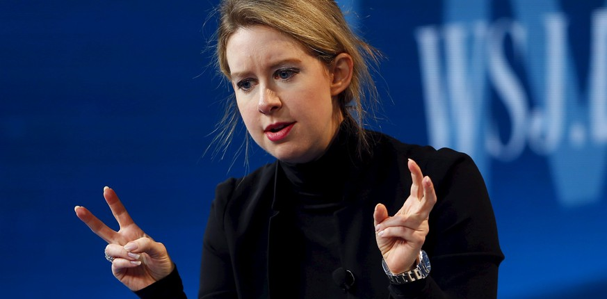 Elizabeth Holmes, founder and CEO of Theranos, speaks at the Wall Street Journal Digital Live (WSJDLive) conference at the Montage hotel in Laguna Beach, California, October 21, 2015. REUTERS/Mike Blake