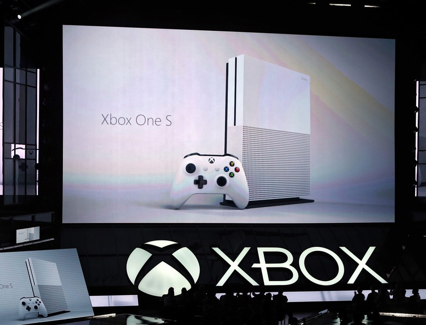 epa05362577 The new Xbox One S is presented at the Xbox press conference prior to the start of the E3 (Electronic Entertainment Expo) in Los Angeles, California, USA, 13 June 2016. The E3 expo introduces new games and gaming devices and is an anticipated annual event among gaming enthusiasts and marketers.  EPA/MIKE NELSON  EPA/MIKE NELSON