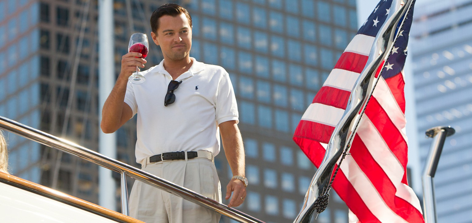 "This image released by Paramount Pictures shows Leonardo DiCaprio as Jordan Belfort in ""The Wolf of Wall Street."" (AP Photo/Paramount Pictures, Mary Cybulski)"