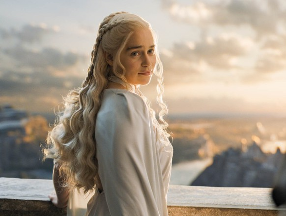 In this image released by HBO, Emilia Clarke appears in a scene from