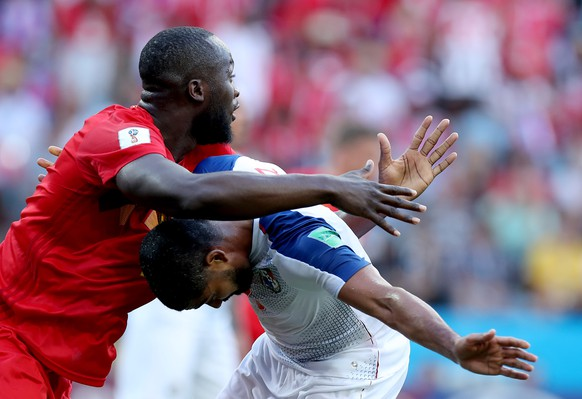 epa06819109 Gabriel Gomez of Panama (R) and Romelu Lukaku of Belgium in action during the FIFA World Cup 2018 group G preliminary round soccer match between Belgium and Panama in Sochi, Russia, 18 June 2018.  (RESTRICTIONS APPLY: Editorial Use Only, not used in association with any commercial entity - Images must not be used in any form of alert service or push service of any kind including via mobile alert services, downloads to mobile devices or MMS messaging - Images must appear as still images and must not emulate match action video footage - No alteration is made to, and no text or image is superimposed over, any published image which: (a) intentionally obscures or removes a sponsor identification image; or (b) adds or overlays the commercial identification of any third party which is not officially associated with the FIFA World Cup)  EPA/MOHAMED MESSARA   EDITORIAL USE ONLY  EDITORIAL USE ONLY