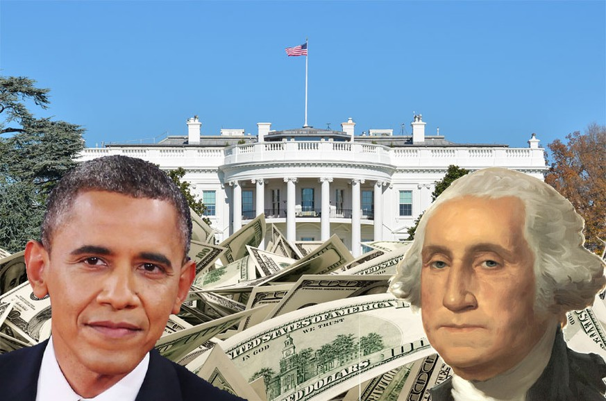 Weisses Haus, Barack Obama, George Washington, Fotomontage