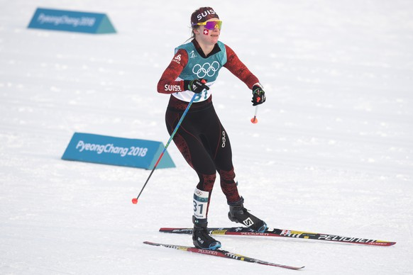 Nadine Faehndrich of Switzerland in action during the women cross country skiathlon in the Alpensia Cross Country Skiing Center during the XXIII Winter Olympics 2018 in Pyeongchang, South Korea, on Saturday, February 10, 2018. (KEYSTONE/Gian Ehrenzeller)
