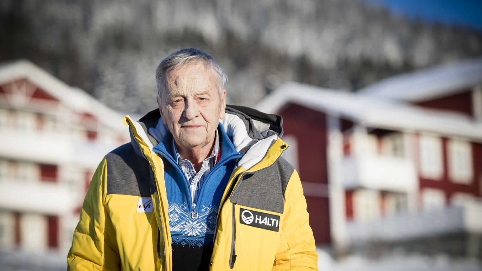 Gian-Franco Kasper, president of the FIS, poses during a press conference at the 2019 FIS Alpine Skiing World Championships in Are, Sweden Monday, February 4, 2019. (KEYSTONE/Jean-Christophe Bott)