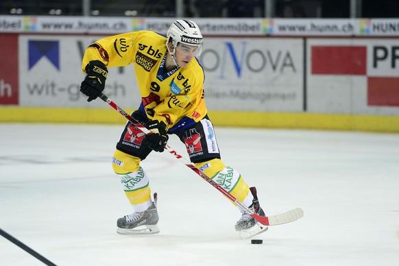09.09.2015; Zuerich; Eishockey NLA ZSC Lions -  SC Bern ; Samuel Kreis (Bern) (Daniela Frutiger/Freshfocus)