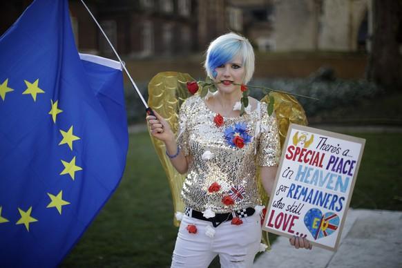 Die 24-jährige Madeleina Kay will in der EU bleiben, London, 14. Februar 2019.