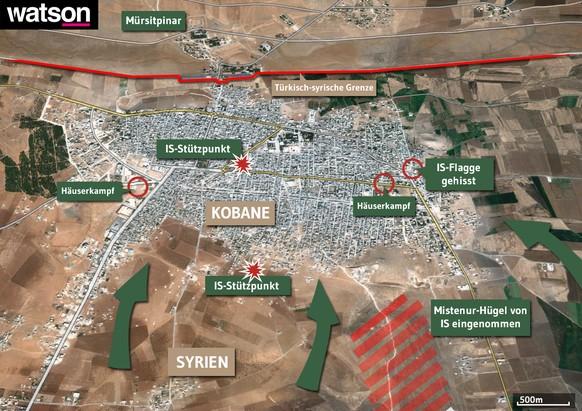 IS, Kobane, Karte, Map, Grafik