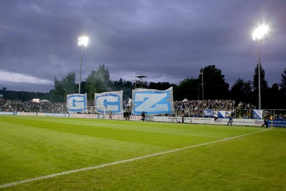 10.05.2014; Aarau; Fussball Super League - FC Aarau -  Grasshopper Club Zuerich; Choreo der GC Fans (Claudia Minder/freshfocus)