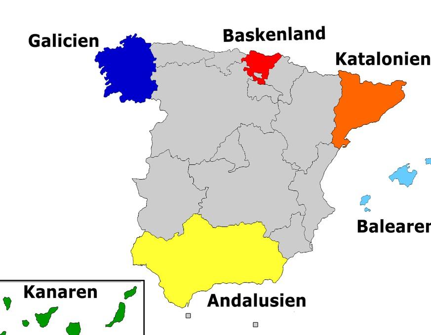 Spanien Regionen Karte.Katalonien Und Co In Diesen 6 Regionen Sind Spaniens Separatisten