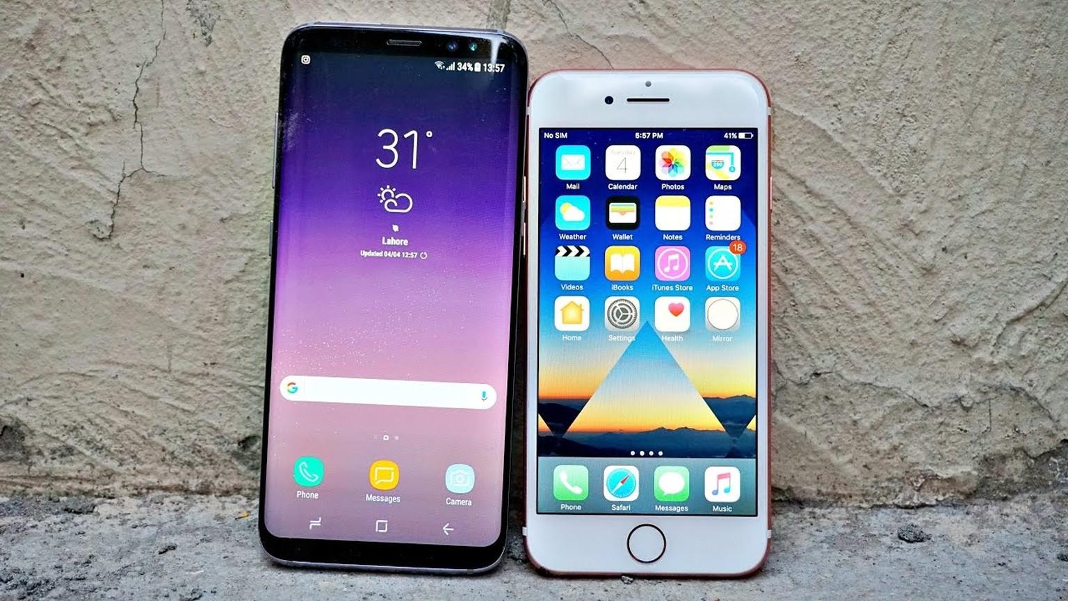 galaxy s8 vs iphone 7 deutsch