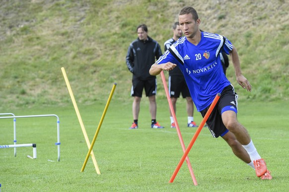 08.07.2015; Lens; Fussball Valais Cup - Trainingslager FC Basel;Veljko Simic (Basel) (Andy Mueller/freshfocus)