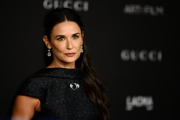 Demi Moore arrives at the LACMA Art + Film Gala at LACMA on Saturday, Nov. 1, 2014, in Los Angeles. (Photo by Jordan Strauss/Invision/AP)