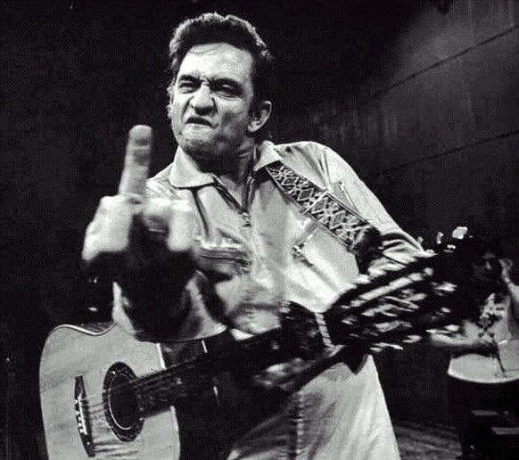 Johnny Cash stinkefinger fuck you
