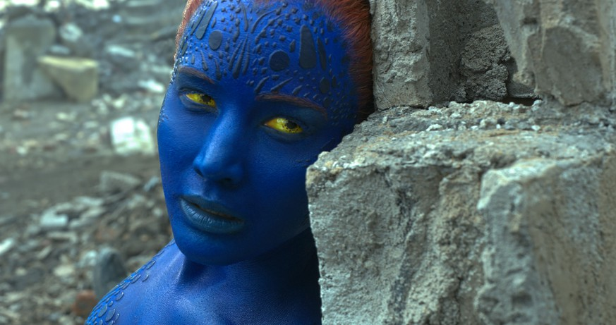 In this image released by Twentieth Century Fox, Mystique, portrayed by Jennifer Lawrence, appears in a scene from,