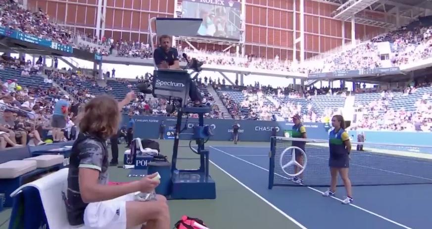 «Spinner!»: Tsitsipas legt sich am US Open mit dem Schiedsrichter an