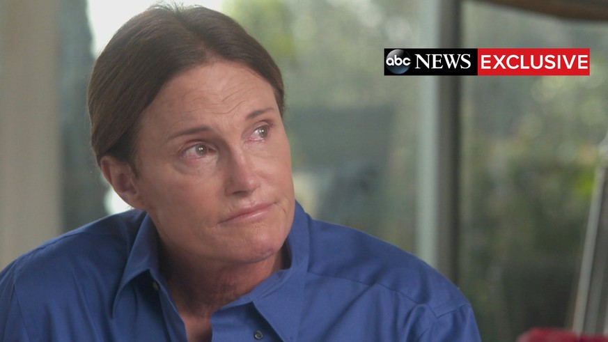 "Bruce Jenner is seen as he sits down with ABC News anchor Diane Sawyer for a two-hour interview that aired during a special edition of ABC News' ""20/20"