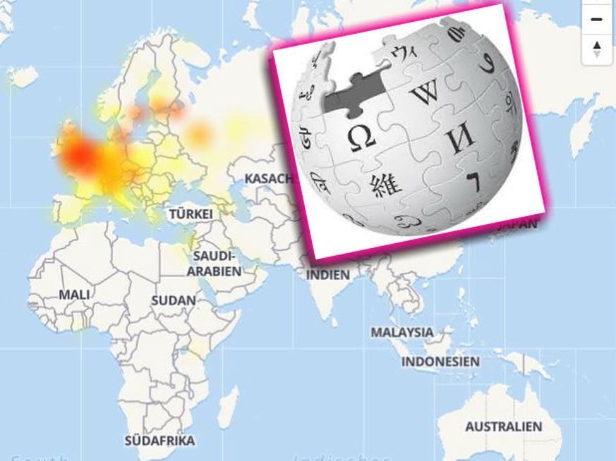 Wikipedia: Störungen der Server in zahlreichen Ländern