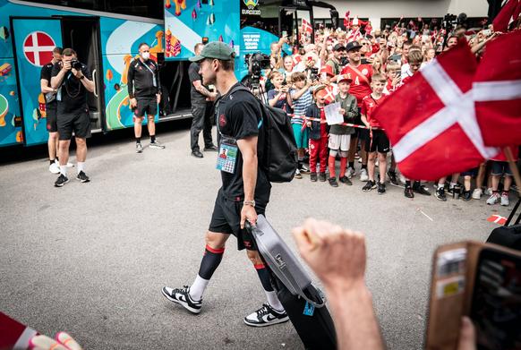 Denmark leaves Hotel in Helsingoer to fly to London for UEFA EURO semifinal against England