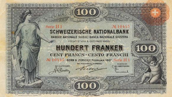 Die Geschichte der Schweizer Banknoten: Der einsame Rekord der 5 ...