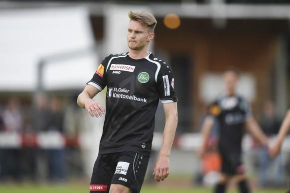 23.06.2015; St.Margrethen; Fussball - FC St.Gallen - Austria Lustenau;Daniel Laesser (St.Gallen) (Andy Mueller/freshfocus)