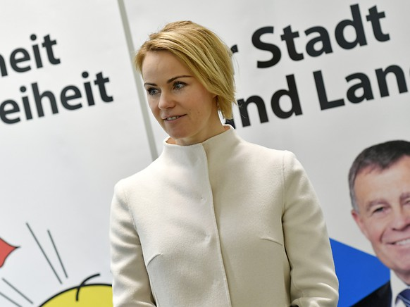 Natalie Rickli dürfte den Einzug in die Zürcher Kantonsregierung schaffen. (Archivbild)