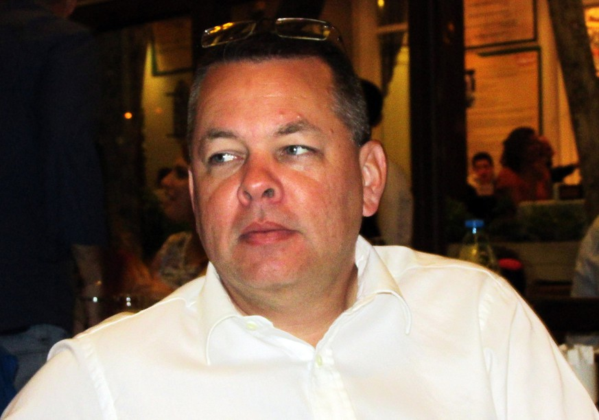 epa06600891 US citizen, pastor Andrew Craig Brunson pictured in Izmir, Coastal city of Turkey, 20 May 2017 (issued 13 March 2018). Brunson was arrested in October 2016, accused of being a member of a terror organisation after a failed coup attemp in July 2016 in Turkey and his trial will begin soon. US President Donald J. Trump ask Erdogan to release Brunson in their meeting in 2017 in the US, according to media.  EPA/DEPO PHOTOS TURKEY OUT